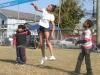 Girl hitting
