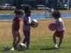 Children entertain themselves